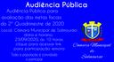 Audência Pública 2º Quadrimestre de 2020
