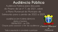 Audiência Pública do Plano Plurianual
