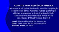 Audiência Pública - Metas Fiscais