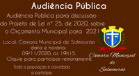 Audiência Pública Orçamento 2021