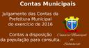 Contas Municipais 2016